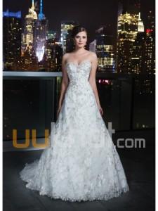 a-linje kjæreste kapell tog tyll brudekjole